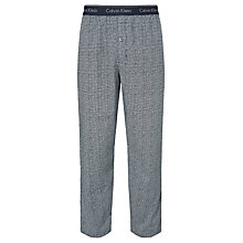 Buy Calvin Klein Painted Tiles Woven Cotton Lounge Pants, Blue Online at johnlewis.com