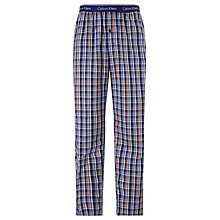 Buy Calvin Klein Woven Cotton Eric Check Lounge Pants Online at johnlewis.com