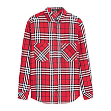 Buy Mango Check Shirt, Red Online at johnlewis.com