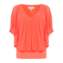Buy Coast Vittoria Calla Top, Coral Orange Online at johnlewis.com