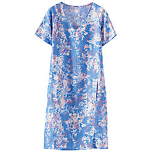 Buy Poetry Printed Linen Dress, Cornflower Online at johnlewis.com