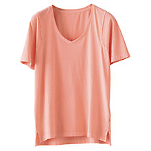 Buy Poetry Garment Dyed T-Shirt, Coral Online at johnlewis.com