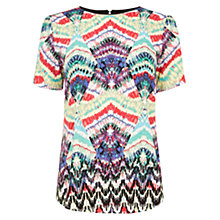 Buy Warehouse Summer Aztec T-shirt, Multi Online at johnlewis.com