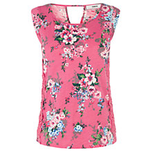 Buy Oasis Lace Side Shell Top, Multi Pink Online at johnlewis.com