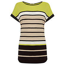Buy Oasis Zanzibar Stripe T-Shirt, Multi Online at johnlewis.com