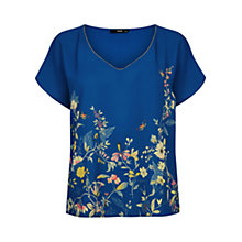 Buy Oasis Anna Maria Border Tropez T-Shirt, Multi Blue Online at johnlewis.com