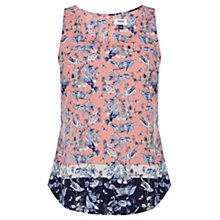 Buy Oasis V and A Alina Bird Vest Top, Coral Online at johnlewis.com