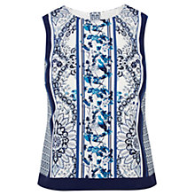 Buy Oasis Delft Bird Placement Shell Top, Multi Blue Online at johnlewis.com