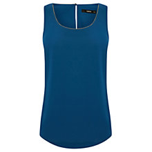 Buy Oasis Embellished Neck Vest, Peacock Blue Online at johnlewis.com