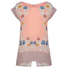 Buy Oasis Placement Top, Coral Online at johnlewis.com