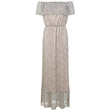 Buy Miss Selfridge Spot Bardot Maxi Dress, Nude Online at johnlewis.com