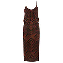 Buy Warehouse Tribal Cutabout Midi Dress, Amber Online at johnlewis.com