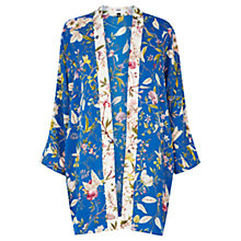 Buy Oasis V and A Anna Maria Kimono, Multi Blue Online at johnlewis.com