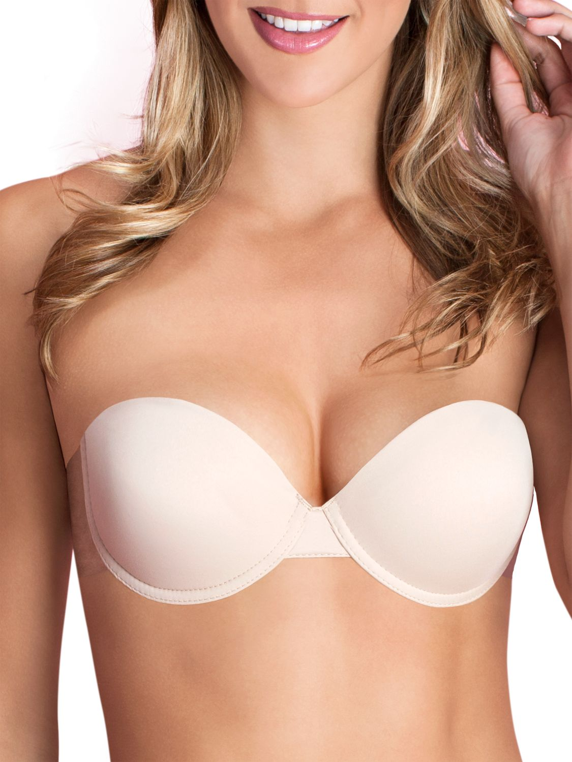 Fashion Forms Fashions Forms Go Bare Ultimate Boost Strapless Bra, Nude
