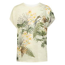 Buy Warehouse Bird Print Texture T-Shirt, Cream Online at johnlewis.com