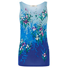 Buy Oasis Iris Placement Vest Top, Multi Blue Online at johnlewis.com