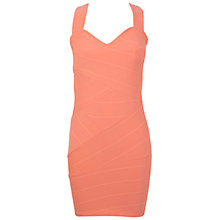 Buy Miss Selfridge Bandage Dress, Coral Online at johnlewis.com