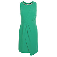 Buy Oasis Madison Embellished Dress, Deep Green Online at johnlewis.com