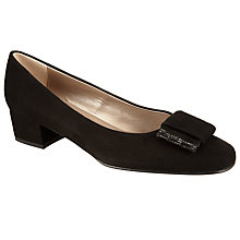 Buy John Lewis Abigail Block Heeled Pump, Black Suede Online at johnlewis.com