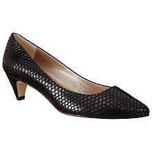 Buy John Lewis Amelia Snake Effect Kitten Heel Court Shoes Online at johnlewis.com