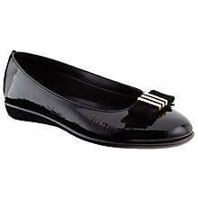 Buy John Lewis Designed for Comfort Hyacinth Patent Leather Ballerina Pumps, Black Online at johnlewis.com