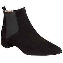 Buy John Lewis Ola Suede Chelsea Boots, Black Online at johnlewis.com