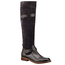 Buy John Lewis Roman Long Leather Knee High Boots, Grey Online at johnlewis.com