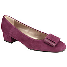Buy John Lewis Abigail Block Heeled Pump, Red Suede Online at johnlewis.com