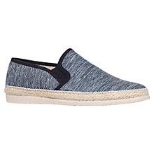 Buy KG by Kurt Geiger Gusset Canvas Slip On Shoes, Blue Online at johnlewis.com