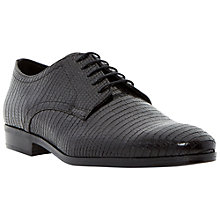 Buy Dune Black Rapido Lizard Print Lace Up Shoes, Black Online at johnlewis.com
