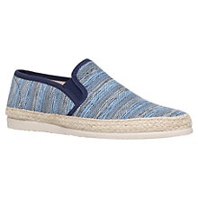Buy KG by Kurt Geiger Slip On Canvas Shoes, Blue Online at johnlewis.com