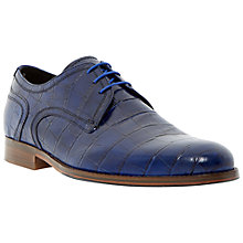 Buy Dune Black Rainforest Croc Print Leather Derby Shoes Online at johnlewis.com