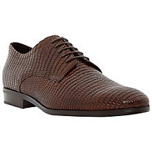 Buy Dune Black Rapido Lizard Print Lace Up Shoes, Brown Online at johnlewis.com