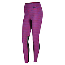 Buy Nike Legendary Jacquard Training Tights, Sport Fuchsia/Black Online at johnlewis.com