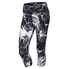 Buy Nike Legendary Engineered Marble Capri Running Tights, Black Online at johnlewis.com