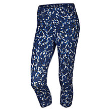 Buy Nike Legend 2.0 Dri-FIT Quake Capri Running Tights, Deep Royal Blue/White Online at johnlewis.com