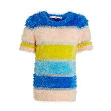 Buy John Lewis Girls' Eyelash Stripe Jumper, Multi Online at johnlewis.com