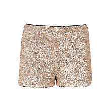 Buy John Lewis Girl Sequin Shorts, Rose Gold Online at johnlewis.com