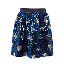 Buy John Lewis Girls' Sequin Stars Skirt, Blue Online at johnlewis.com