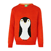 Buy Donna Wilson for John Lewis Girls' Penguin Jumper, Orange Online at johnlewis.com