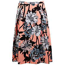 Buy Miss Selfridge Graphic Floral Skirt, Pink Online at johnlewis.com
