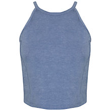 Buy Miss Selfridge Denim 90s Curve Crop Top, Denim Blue Online at johnlewis.com