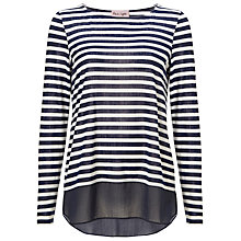 Buy Phase Eight Sandie Stripe Top, Navy/Ivory Online at johnlewis.com