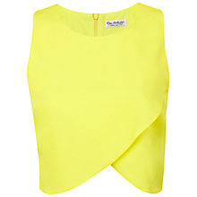 Buy Miss Selfridge Wrap Front Shell Top, Lemon Online at johnlewis.com