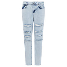 Buy Karen Millen Limited Edition Stonewash Straight Leg Jeans, Pale Denim Online at johnlewis.com