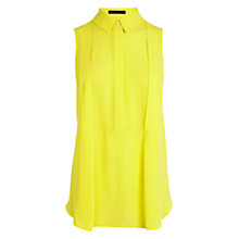 Buy Karen Millen Relaxed Sleeveless Shirt, Yellow Online at johnlewis.com
