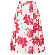 Buy Phase Eight Antoinella Skirt, Ivory / Geranium Online at johnlewis.com