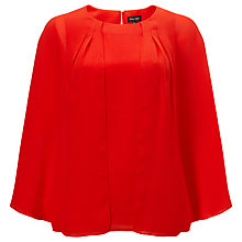 Buy Phase Eight Safia Layered Blouse, Tangerine Red Online at johnlewis.com