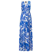 Buy Phase Eight Palm Print Maxi Dress, Blue / White Online at johnlewis.com