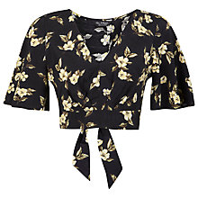 Buy Miss Selfridge Floral Angel Top, Assorted Online at johnlewis.com
